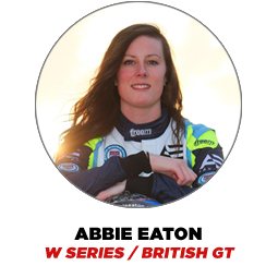 Abbie Eaton, W Series, British GT and Grand Tour Racing Driver